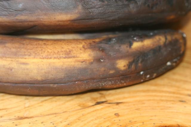 Brown bananas ready for mashing