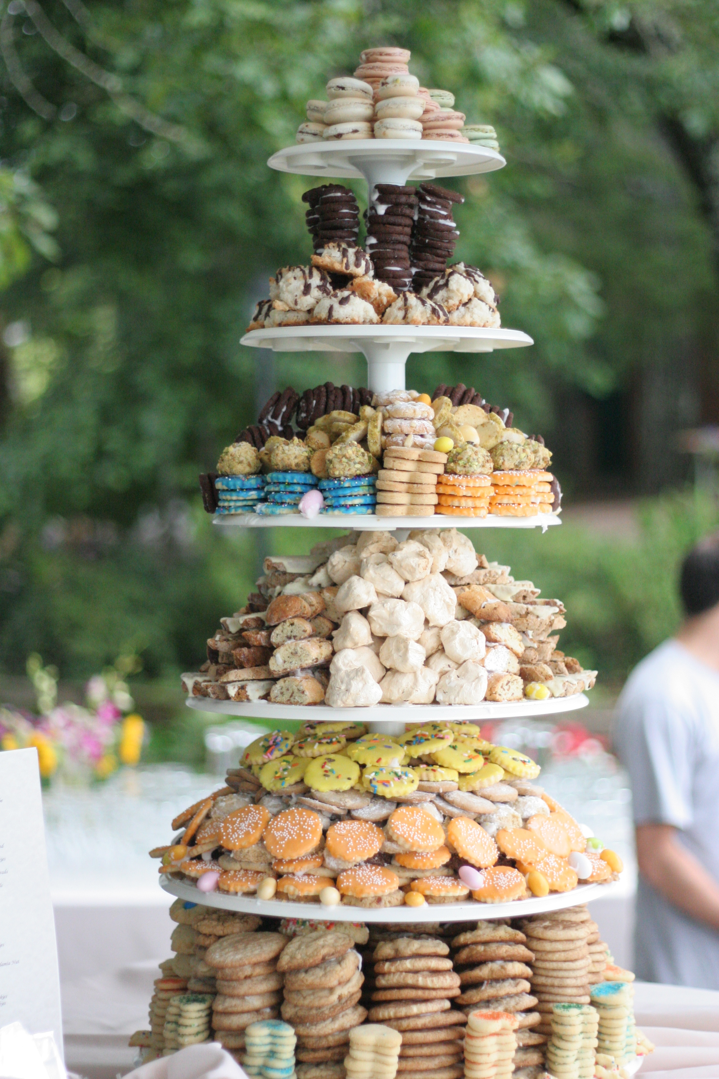 italian wedding cake cookies the wedding cookie tower la cuoca ciccia 16510
