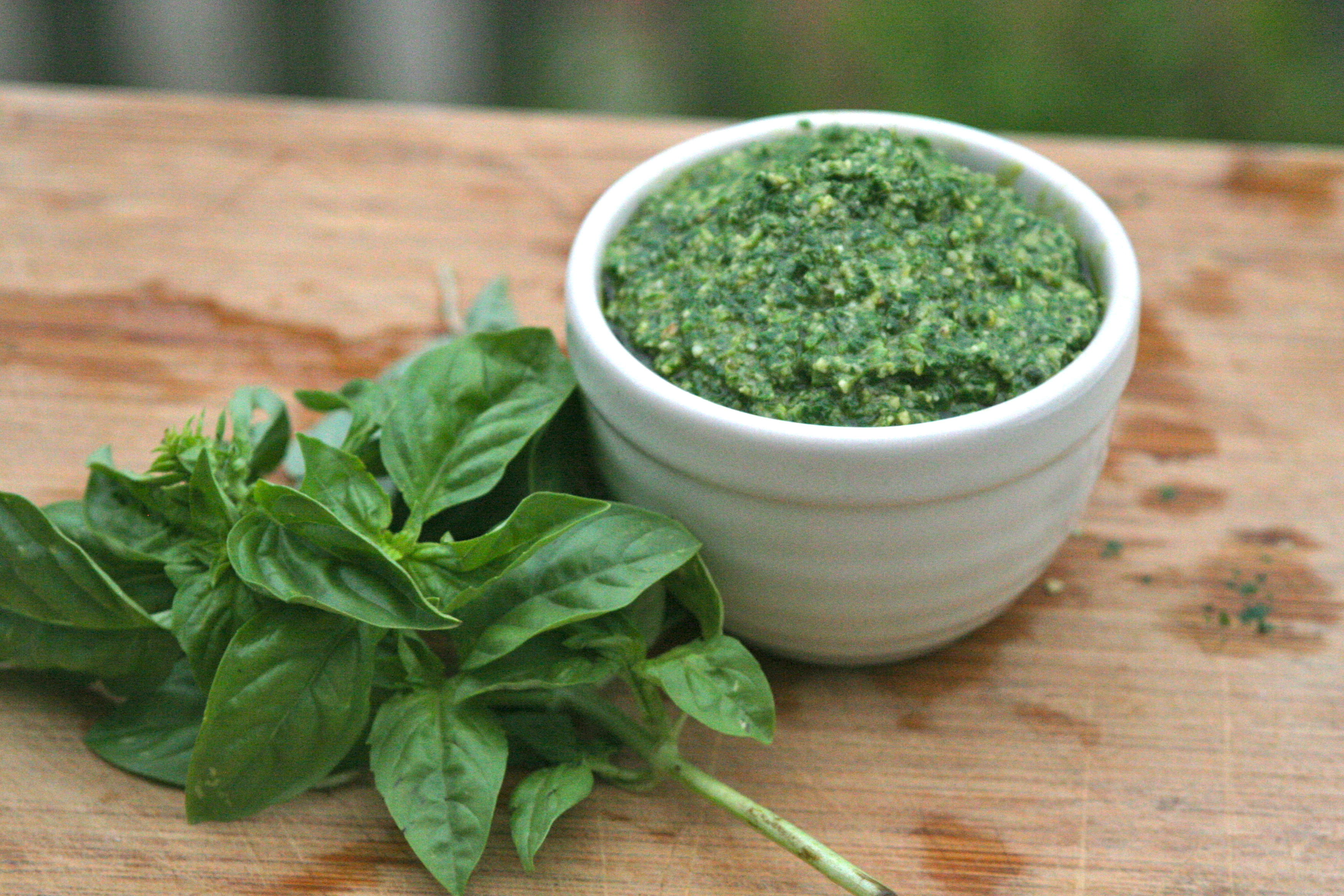 The Secret to Bright Green Italian Basil Pesto | La Cuoca ...