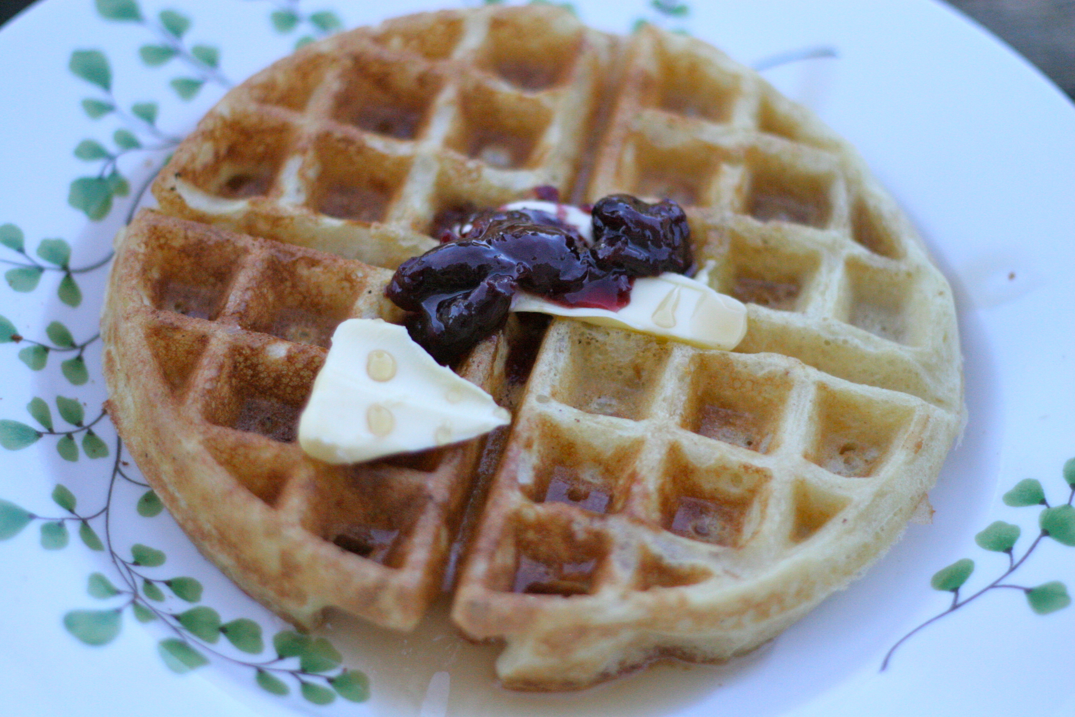Brown butter belgian (yeasted) waffles