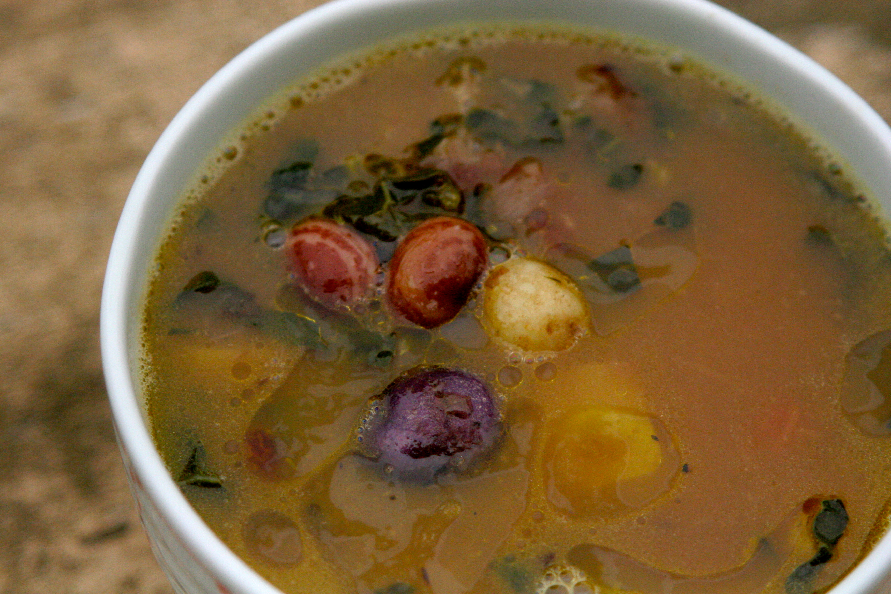 winter garden soup kale potato bean and lemon la cuoca ciccia